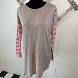 Victoria's Secret Nightshirt grey and pink